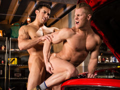 Beefy Italian stallion Johnny V enters the body shop and walks in on Ricky Decker greasing his crankshaft. Johnny's organized to lend extra quantity than a helping hand: in this case, his mouth. This boy gulps down Ricky's thick tool. Ricky rips off his m