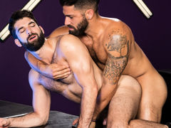 Intense mouth to mouth erupts among Adam Ramzi and Tegan Zayne. Their hands grope per other's as mother gave birth bodies and hard cocks, and their tongues explore per other's mouths. The connection among these two hairy studs shoves per with a lust for m
