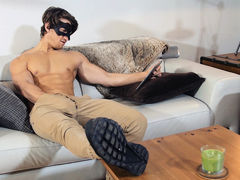After a crappy day at work, sweaty stud Jake was eager to relax at home, watching TV. Unfortunately he found null good to watch. He closed it and decided to jerk off to porn on his tablet...